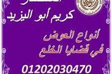 محامي متخصص في قضايا الخلع(كريم ابو اليزيد)