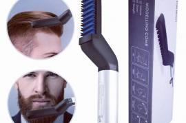 مشط تصفيف الشعر و الذقن الكهربائي للرجال مشط الشعر